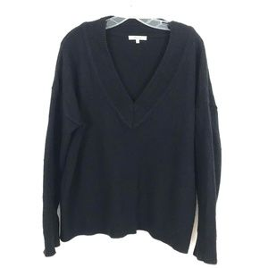 Madewell deep V neck pullover sweater Wool Yak